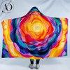 Bloom by Amy Diener Hooded Blanket Colorful Rose Microfiber Blanket Flower Wearable Blanket Watercolor Art Soft Sherpa Blanket 1