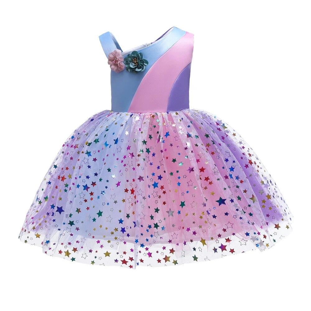 Fille Princesse Fleur Robe Enfant Bébé Fête Mariage Pageant formelle Robes vêtements