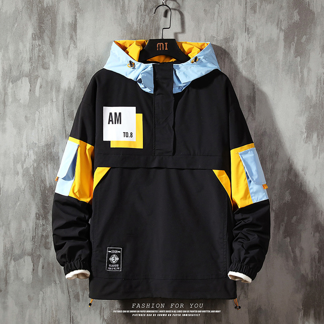 Men's Jacket hoodie Fashion Casual Streetwear Hoodie Jacket Men Waterproof Clothes Mens Windbreaker Coat Male Outwear 1