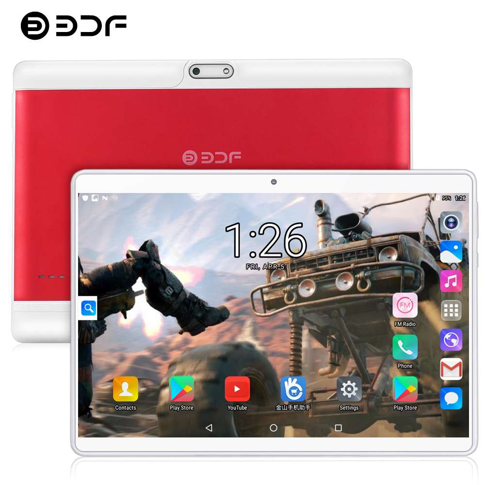 BDF 10 Inch Tablets Pc 4GB+64GB Android 8.1 Octa Core Tablet 1280*800 IPS Dual SIM 3G 4G LTE Phone Tablet Android Pc Tablet 10.1