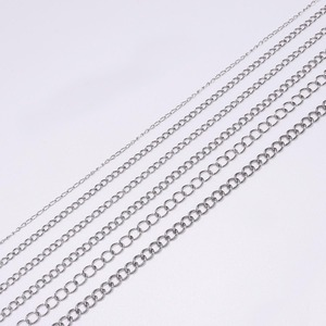 5m/lot 1.2 2.2 2.4 3.0 4.0mm Stainless Steel Extension Bulk Jewellery Chain For DIY Bracelets Jewelry Making Accessories