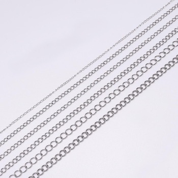 5m/lot 1.2 2.2 2.4 3.0 4.0mm Stainless Steel Extension Bulk Jewellery Chain For DIY  Bracelets Jewelry Making  Accessories jewelry bracelet exclaim for womens 033s2387b jewellery womens bracelets accessories bijouterie