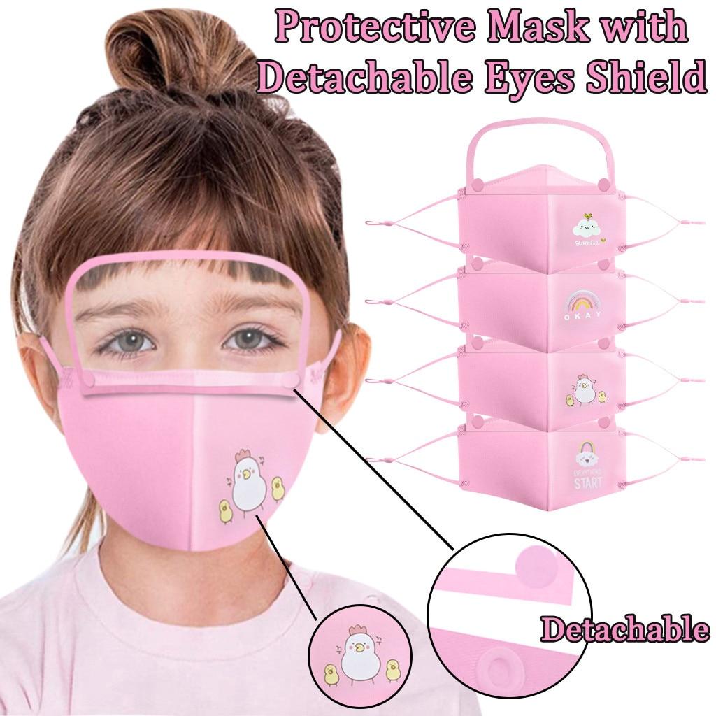 Mascarilla детская маска многоразовые Респиратор маска для защиты лица крышка чехол со съемной защита для глаз многоразовые Лот кейс Mascarillas Маска для велоспорта      АлиЭкспресс