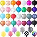 10 шт. 18-дюймовый металлический круглый шар из фольги, свадебное украшение, воздушный шар с гелием и макаронами для дня рождения, Круглый альб...