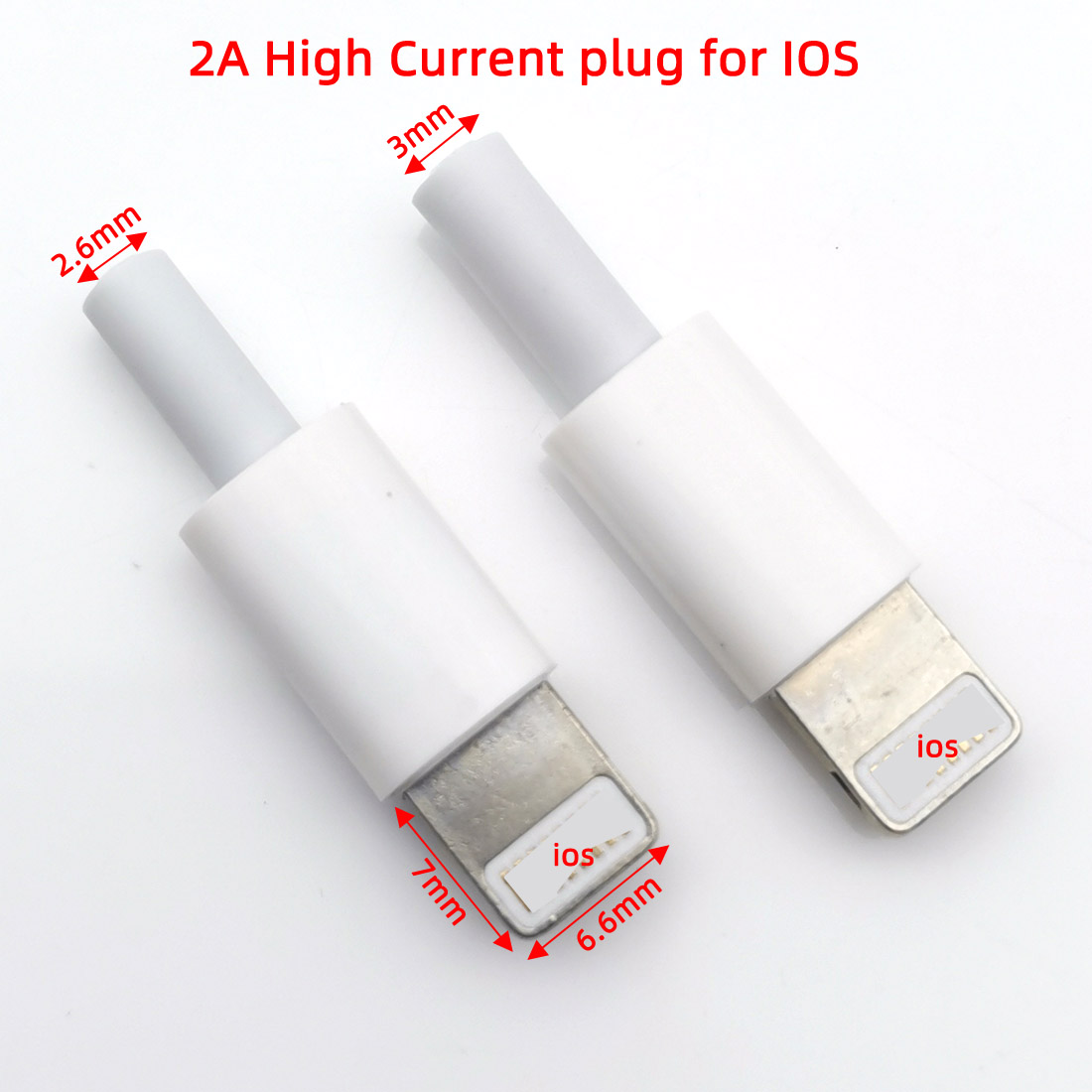 10sets Wire Bonding Type IOS USB Male Plug For Iphone With Chip Board Connector DIY Charging Line Plug Cable Adapter Parts