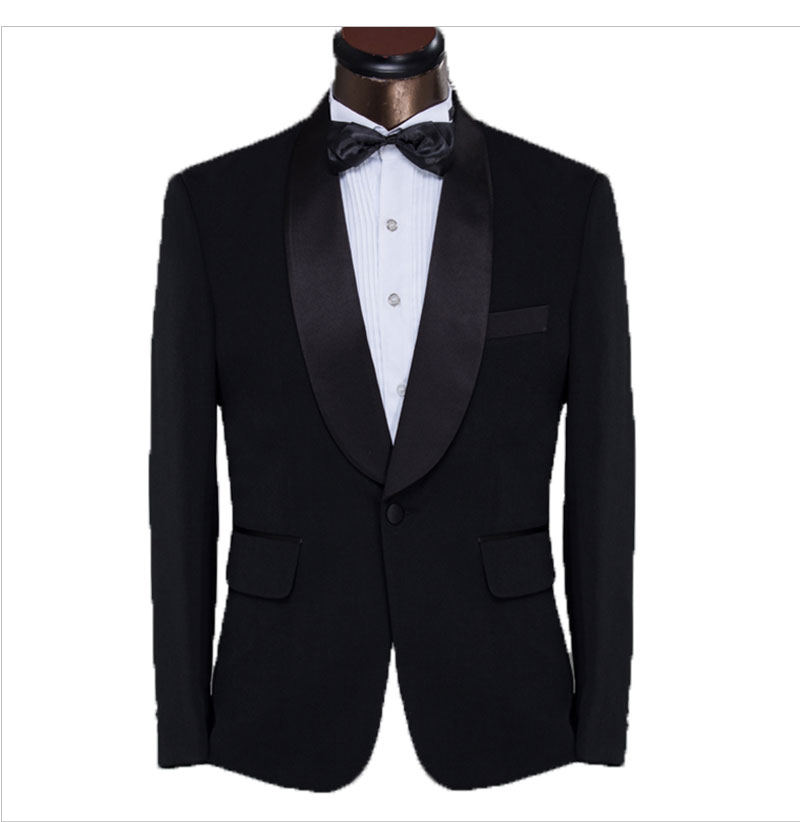 preto formal smoking ajuste fino terno masculino