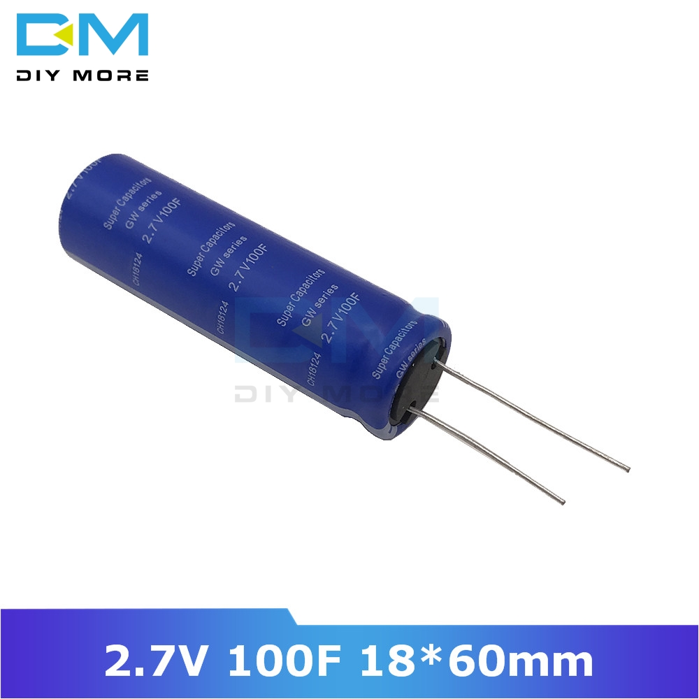Super Farad Capacitor 2.7V 100F 18*60mm High Frequency Low ESR 2.7V100F Super Capacitor Ultracapacitor For Car Speaker Battery