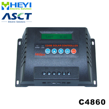 Solar Controllers 182*120*70mm C4860-60 60A 48V solar controller pwm real-time display of charging current and discharge current