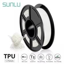 Sunlu Tpu 3D Printer Filament Flexibele Filament 1.75 Mm 0.5Kg/Roll 95A Shore Hardheid Goed Voor Afdrukken Kind schoenen En Speelgoed