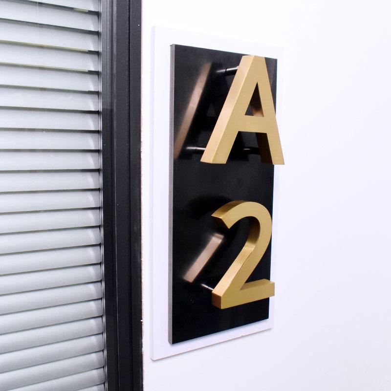 Металлические 3D современные таблички для домов 0-9 ABC, наружные водонепроницаемые таблички для дверей дома, отеля, из нержавеющей стали