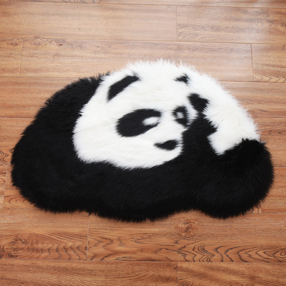 Floor-Mat Living-Room-Accessories Non-Slip-Decoration Play Bedroom Panda Soft Kids Cute
