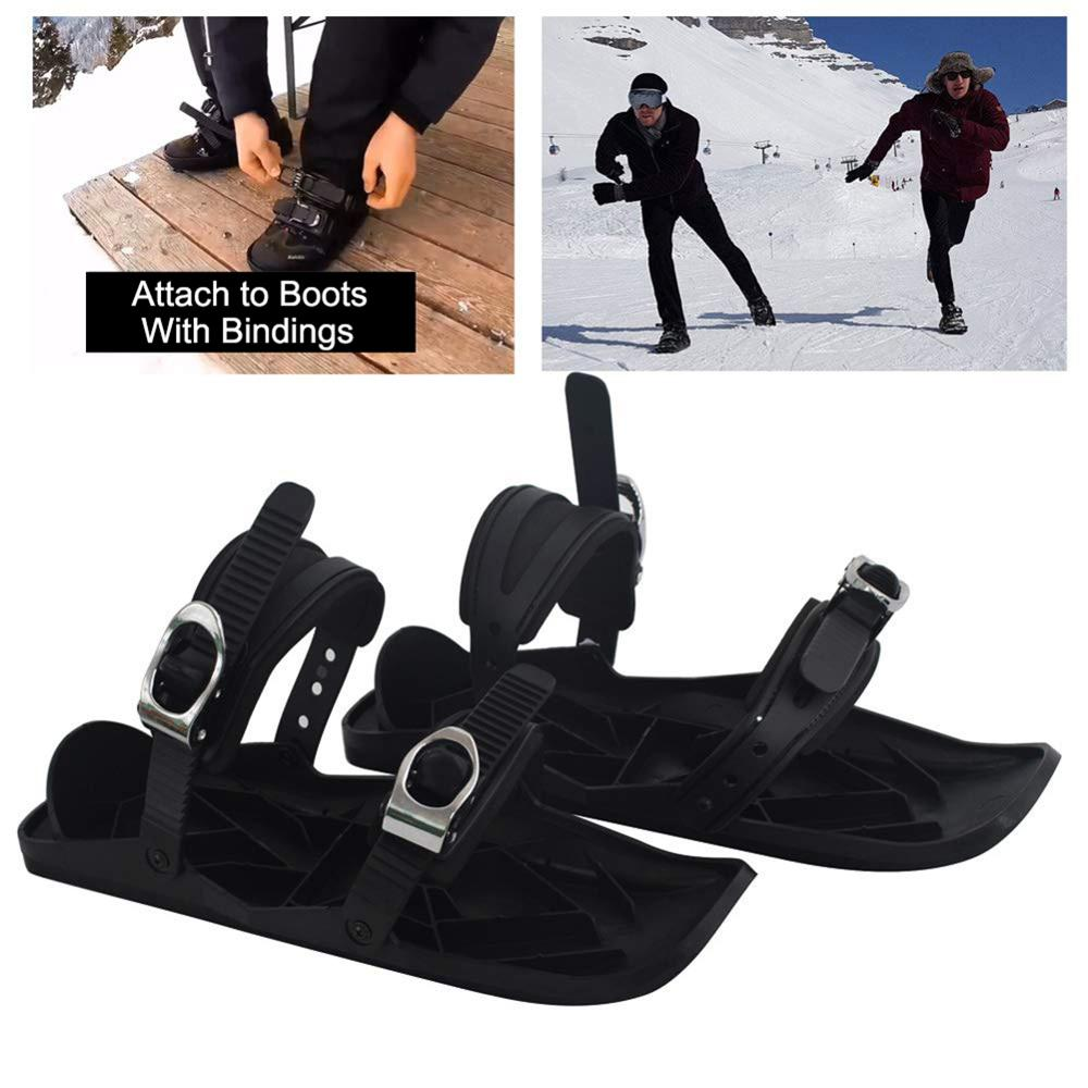 Adjustable Mini Ski Skates Snow Shoes Mini Ski Skates For Snow The Short Skiboard Snowblades Winter Skiing Sports Equipment