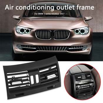 Rear Console Air Vent Replacement Grille Cover Outdoor Personal Car Parts Decoration for BMW F10 5 Series 11-17 RHD image