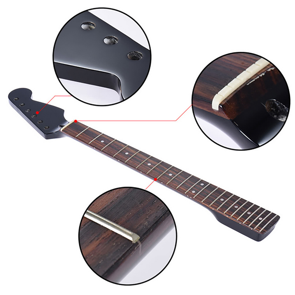 22 Frets Bp Bass  Guitar Neck Rosewood Fingerboard Neck For Fender Tele Replacement Guitar Accessories Parts 2019 New Hot S12