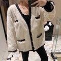 【HSY】2019 Winter New Women Minks Jacket Denmark Purple Standard Hepburn Lady Style V-neck Metal Button Full Real Mink Fur Coat