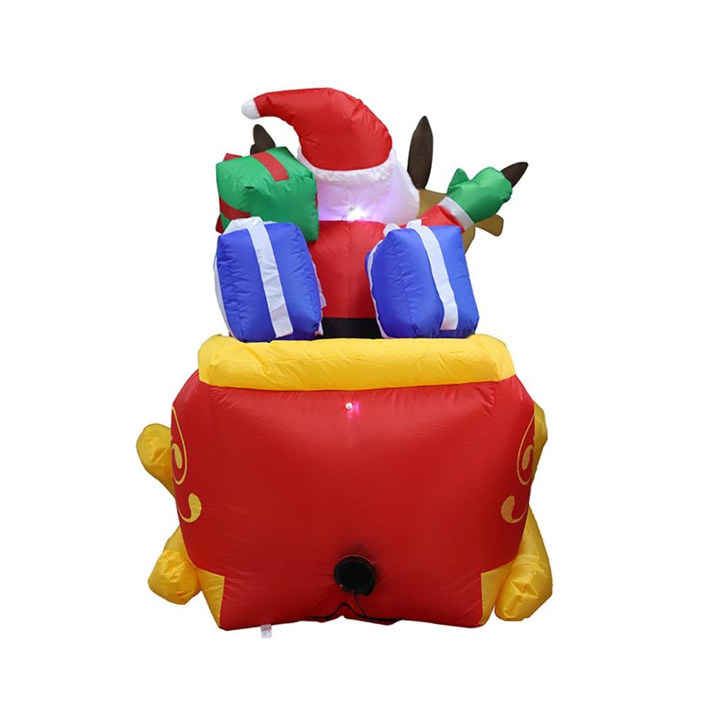 2020 Christmas Inflatable Deer Cart Christmas Double Deer Cart Height 135cm Santa Claus Christmas Dress Up Decorations - 4