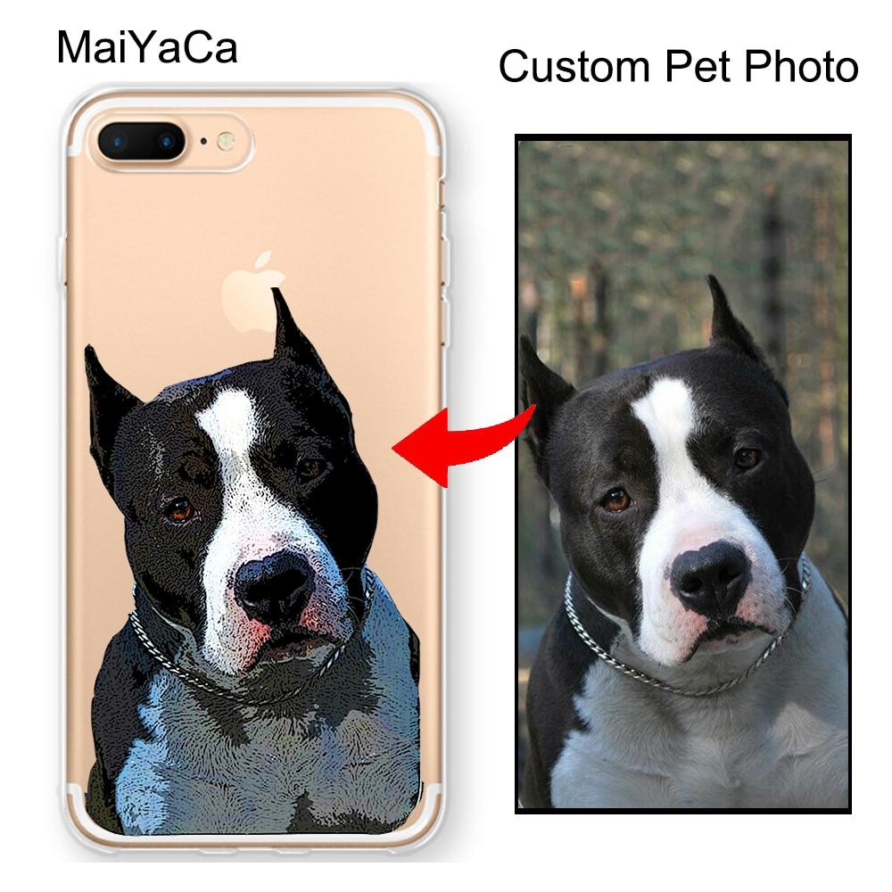 Dog iPhone case Custom dog phone case Pet lovers gift Custom pet illustrated phone case Pet iPhone case Pink Animal Print