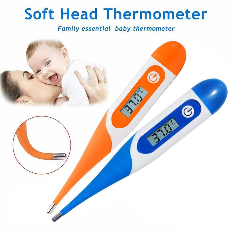 Thermometer Soft Head Electronic LCD Baby Thermometer Kids Digital Body Temperature For Adult Fever Temperature Measuring Tool