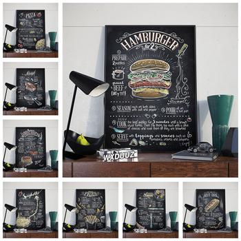 Hamburger hot dog fast food wall art kuchnia kawiarnia dom pokój dziecięcy pokój dziecięcy HD jakość plakaty artystyczne wystrój na płótnie malarstwo M651 tanie i dobre opinie WXDUUZ Wydruki na płótnie Pojedyncze PŁÓTNO Olej cartoon bez ramki AMERYKAŃSKI STYL Malowanie natryskowe Pionowy prostokąt