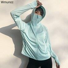 Gym Shirt Workout-Top-Zipper-Jacket Thumb-Hole Long-Sleeve Wmuncc Women Fitness Sport