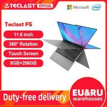 Teclast – Ordinateur portable F5 avec écran tactile de 11,6 pouces, pc avec rotation 360°, Windows 10, processeur Intel N4100, 8 Go de DDR4, SSD de 256 Go, 1920x1080 IPS, type c