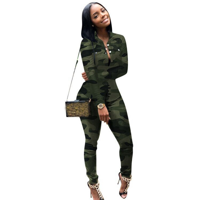 Plus Size Casual Women Set Tracksuit 2 Piece Set Outfits Camo Sweatshirt Sweat Suits Women Matching Two Piece Set Top And Pants