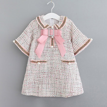 Fashion Girls Classic Spring Designed Clothes Princess Kids Elegant Dresses 3 8 Years Girls Dresses for Party and Wedding