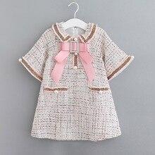 Moda kızlar klasik bahar tasarlanmış elbise prenses çocuklar zarif elbiseler 3 8 yıl kızlar için elbiseler parti ve düğün