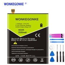 Bateria wonkegonke he345 para baterias de substituição do polímero do li-íon de nokia he345 bateria