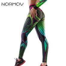 NORMOV/Женские легинсы для занятий фитнесом с цифровой печатью, спортивные Леггинсы с высокой талией, женские леггинсы для тренировок, эластичные леггинсы с пуш-ап эффектом для фитнеса