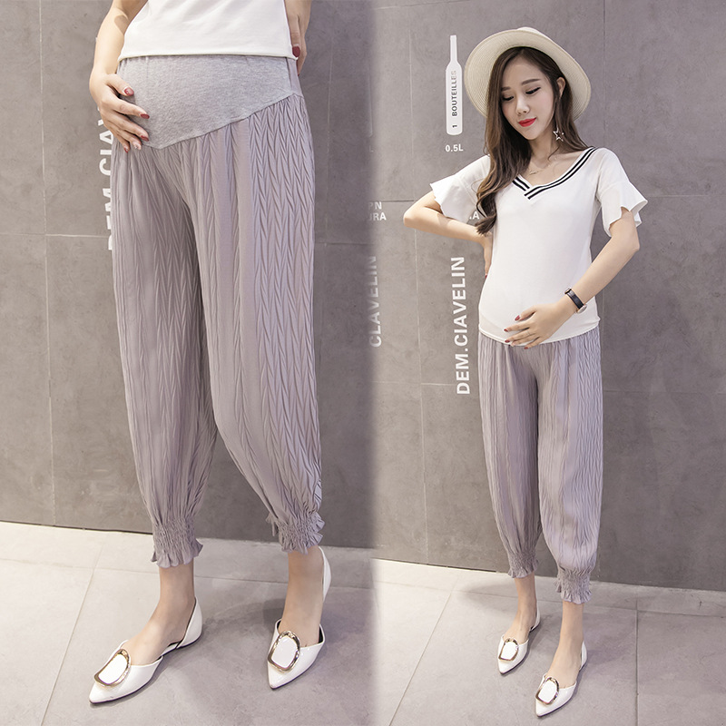 Pregnant Women Pants Spring And Autumn Summer Outer Wear Thin Spring Clothing Leggings for Pregnant Woman Summer Wear Capri Hare
