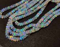 loose beads AAAA white rainbow opal roundel 2 4 nature for DIY making jewelry necklace 36cm FPPJ wholesale