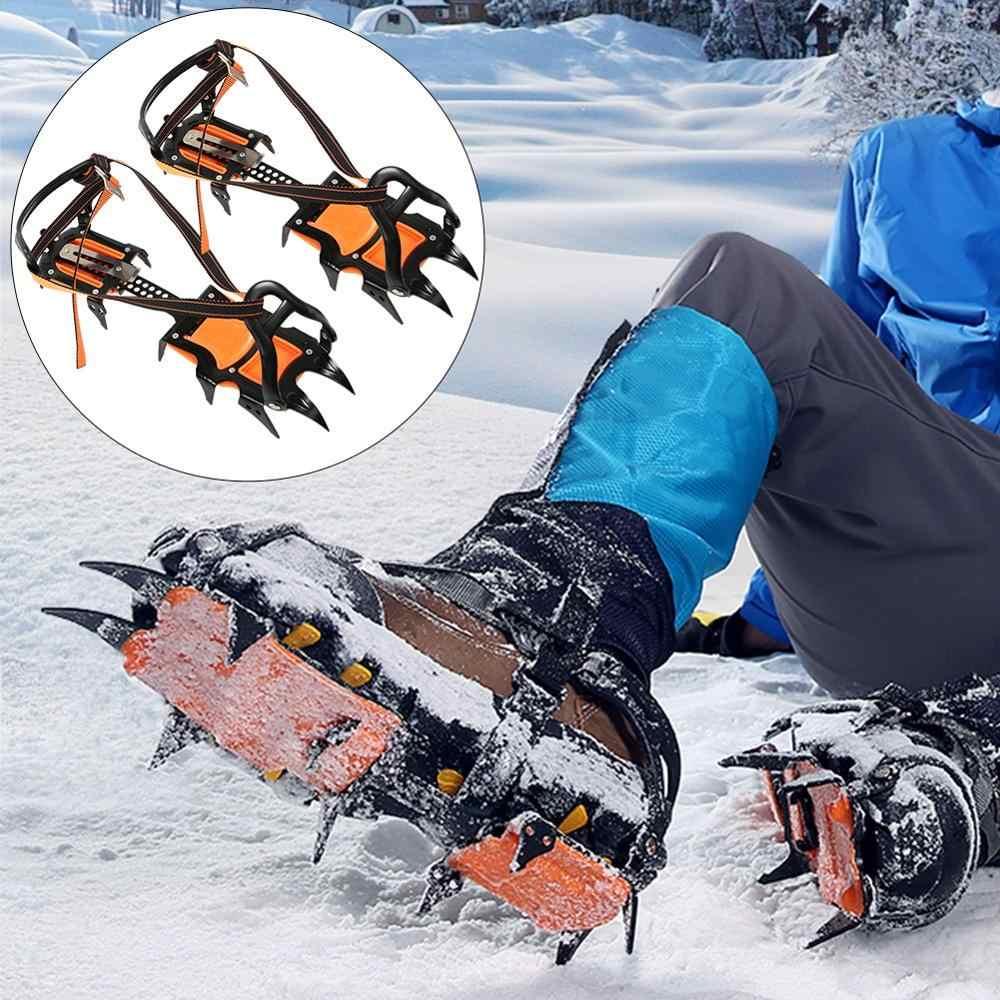 Eovymovy Crampones 12 Puntos Pinzas Dentadas Crampones,Escalada en Hielo de Acero al Manganeso Crampones,para Invierno Deportes Monta/ñismo Escalada Caminar Alpinismo C/ámping Acampada Senderismo