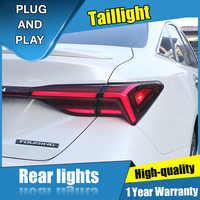 4PCS Auto Styling für Toyota Avalon Rückleuchten 2019 für Avalon ALLE LED Rücklicht + Blinker + Bremse + umge LED licht