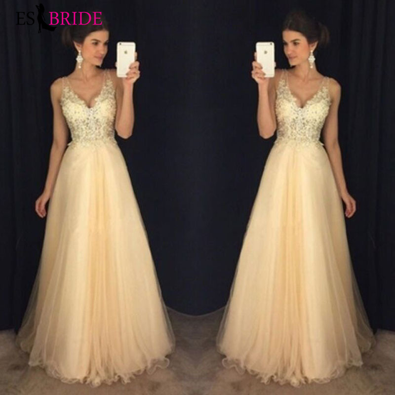 Halter Chiffon Sequin Wedding Bridesmaid Dress