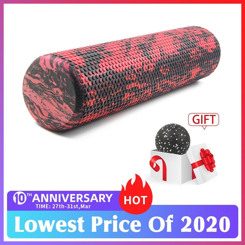 60/45cm Yoga Block Pilates Foam Roller Trigger Point Massage Roller Muscle Tissue For Fitness Gym Yoga Pilates Sports