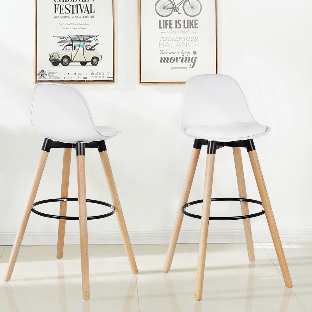 Awesome Us 60 99 39 Off 2Pcs Set High Quality Elm Legs Pp Stools Bar Chairs Modern Bar Stools 3 Colors Party Home Kitchen Accessories Bar Furniture Hwc On Bralicious Painted Fabric Chair Ideas Braliciousco