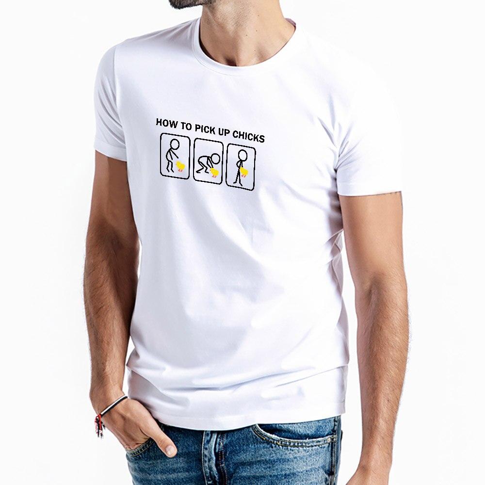 Футболка мужская с графическим принтом, быстросохнущая Свободная рубашка с круглым вырезом, с забавным принтом как забрать цыплят, большие ...