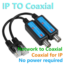 IP Network Coaxial Transmitter Receiver Extender Safe Transmission Cables For IP NVR Camera