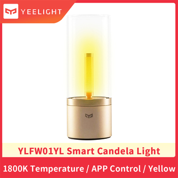 Xiaomi Yeelight YLFW01YL Lamp Smart Led Candle Ambiance Bluetooth App Rotate Control Light Remote Touch Control Night Light baby bedside rgb lights lamp smart night lights xiaomi yeelight indoor desktable lamp touch control bluetooth for phone
