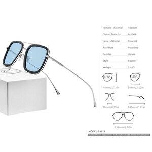 Image 3 - FONEX Pure Titanium Acetate Polarized Sunglass Men Retro Tony Stark Sunglasses New Vintage Edith Sun Glasses for Women 8512