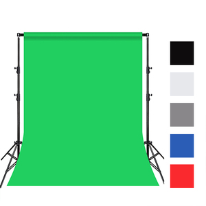 3X4M photography backdrops Cotton Textile Muslin green blue red Black grey white screen Background Professional Cloth for Studio