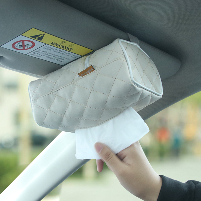 Car Leather Tissue Box Home Tissue Cover Car Home Dual Purpose Leather Zhi Jin Dai Car Supplies R-7273