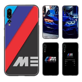 Germany M BMW Sports Car Phone Case Cover Hull For Huawei P8 P9 P10 P20 P30 P40 Lite Pro Plus smart Z 2019 black back art shell image