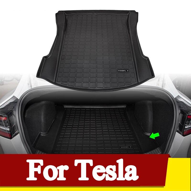 Модель 3 2021, коврик для багажника из ТПЭ, автомобильные водонепроницаемые коврики для Tesla Model 3, аксессуары, коврик для багажника, напольный ко...