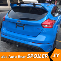 For FORD Focus Spoiler 2012 2014 Focus hatch back spoiler RS High Quality ABS Material Car Rear Wing Primer Color Rear Spoiler