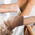Женский браслет из нержавеющей стали 316L, женский браслет, регулируемая цепочка, амулетные браслеты, Женский минималистичный женский брасле...