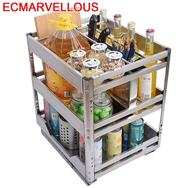 Organisadores Armario De Cosina Cestas Para Organizar Stainless Steel Cuisine Organizer Cocina Kitchen Cabinet Storage Basket