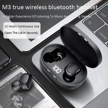 M3tws Bluetooth Headset 5.0 Double in-Ear Touch Control Wireless Earphone OEM Customizable Source Factory Fat