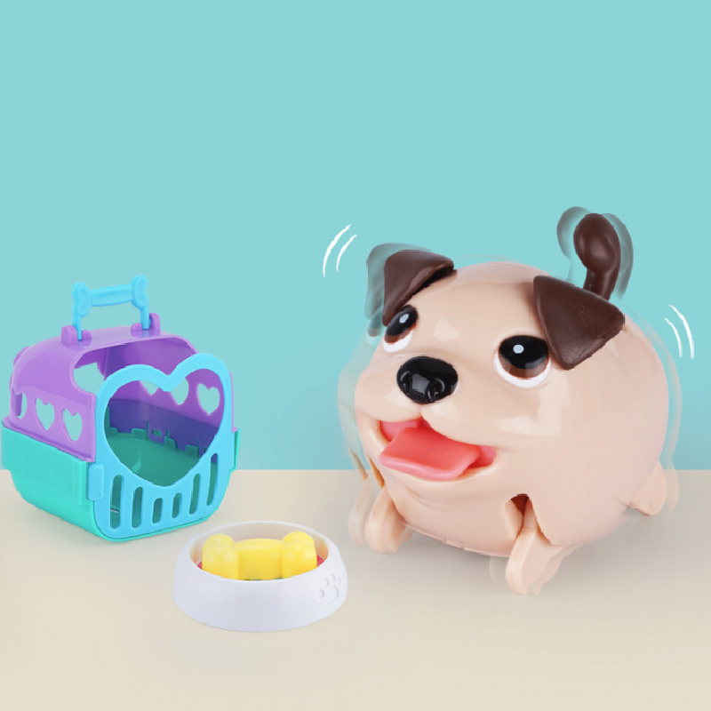 Electric Puppy Jump And Skip Electric Toys Pets Cage Bone Gifts For Children Over 3 Years Old